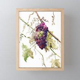 Grapes, California Vineyard Wine Lover design Framed Mini Art Print