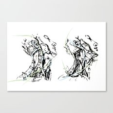 head and neck Canvas Print
