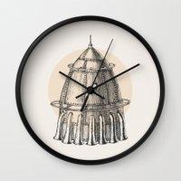 steam punk Wall Clocks featuring Steam punk rocket by grop
