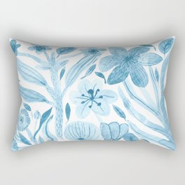 Swept Away Wildflowers Rectangular Pillow