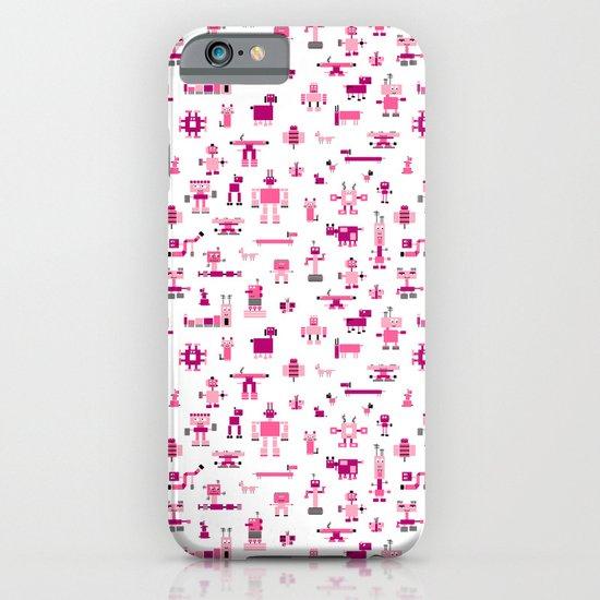 Robots-Pink iPhone & iPod Case