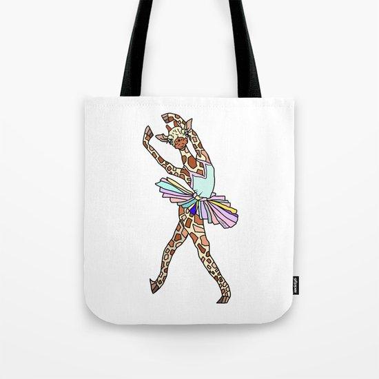 Giraffe Ballerina Tutu Tote Bag