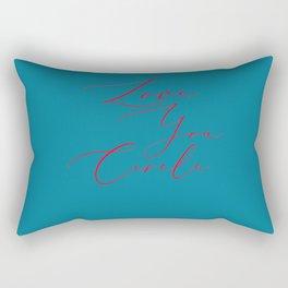 Love you circle Rectangular Pillow