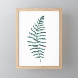 Emerald Fern Watercolor | Botanical Painting Framed Mini Art Print