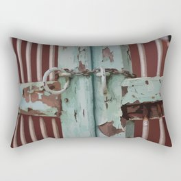 Closed Door Illustration with Chain Rectangular Pillow
