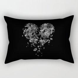 smoke broken heart Rectangular Pillow