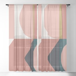 Maximalist Geometric 02 Sheer Curtain