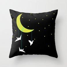 Night birds Throw Pillow