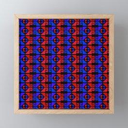 Mexican Aztec Geometric Pattern Dark Framed Mini Art Print