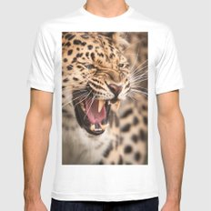 Amur Leopard Mens Fitted Tee White MEDIUM