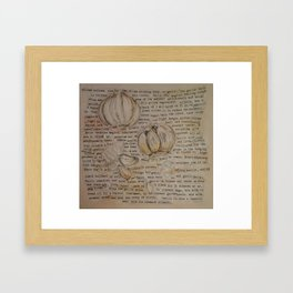 Garlic Collage Framed Art Print