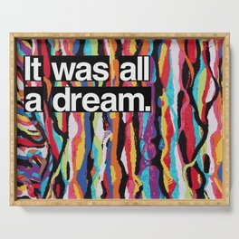 """""""It Was All A Dream"""" Biggie Smalls Inspired Hip Hop Design Serving Tray"""