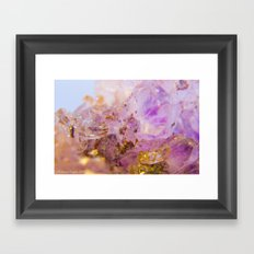 Amethyst Incrustrations Framed Art Print