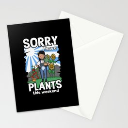 SORRY I HAVE PLANTS | No Time | Hobby Gardener Stationery Cards