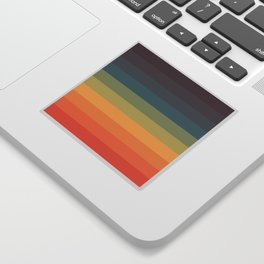Colorful Retro Striped Rainbow Sticker