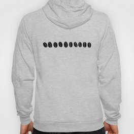 Black and White Coffee Beans Drawing by Emma Freeman Designs Hoody