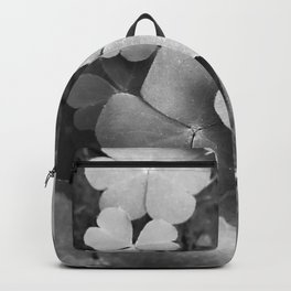 Green Floral in black and white  Backpack