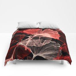 ginko biloba leaves Comforters