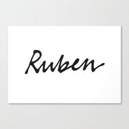 Ruben mug Canvas Print