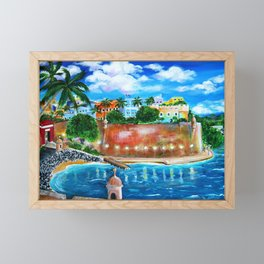 La Fortaleza, Old San Juan, Puerto Rico Framed Mini Art Print