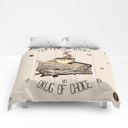 Coffee And Books Comforters