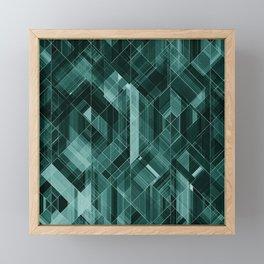 Abstract green pattern Framed Mini Art Print
