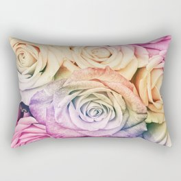 Some people grumble - Colorful Roses - Rose pattern Rectangular Pillow