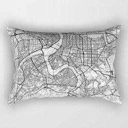 Taipei Map White Rectangular Pillow