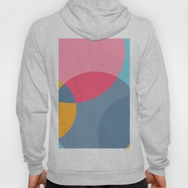 Light reflected overlapping colors circles for furniture and fashion Hoody