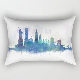 NY New York City Skyline Rectangular Pillow
