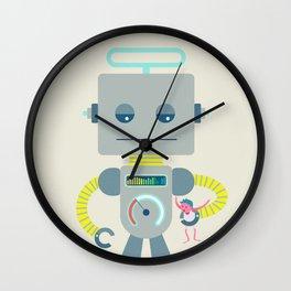 Retro Toy Robot Robo Ludens Wall Clock