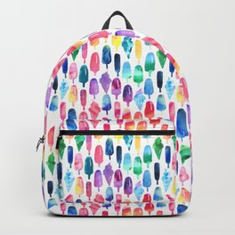 Rainbow Watercolor Popsicles Ice Cream Cones Backpack