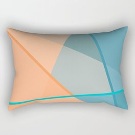 Abstract Two Rectangular Pillow