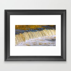 Flow Of Gold  Framed Art Print