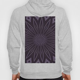 Eggplant and Aubergine Floral Design Hoody