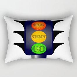 Ready Steady Go Traffic Lights Rectangular Pillow