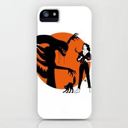 Alien Cartoon Style - Orange iPhone Case