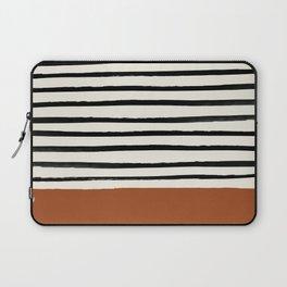Burnt Orange x Stripes Laptop Sleeve