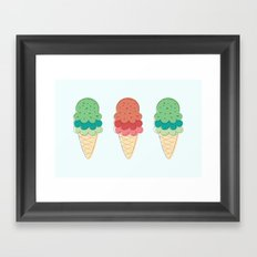 Ice Cream + Sprinkles Framed Art Print