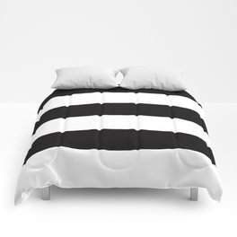 Stripes are the new black Comforters