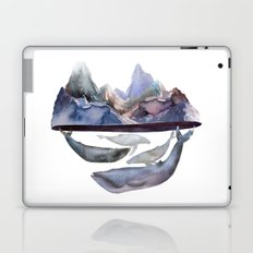 mountain and whales Laptop & iPad Skin