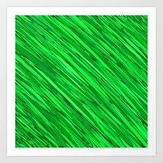 Emeralds Meshed  Art Print