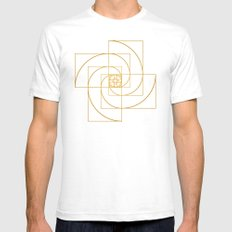 Golden Pinwheel Mens Fitted Tee White SMALL