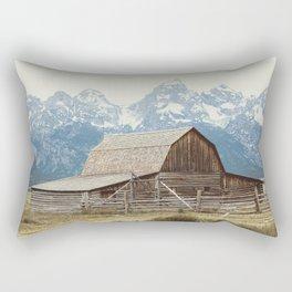 A Rocky Mountain Adventure - The Grand Tetons Rectangular Pillow