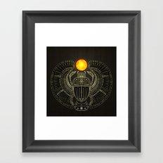 Sacred Scarab (v2) Framed Art Print
