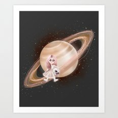Lost in a Space / Saturnesse Art Print