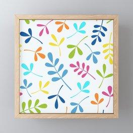 Multicolored Assorted Leaf Silhouettes Framed Mini Art Print