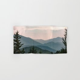 Smoky Mountain Pastel Sunset Hand & Bath Towel