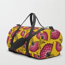 African Floral Motif Duffle Bag