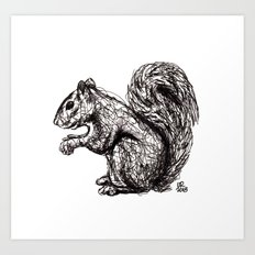 Woodland Creatures: Squirrel Art Print